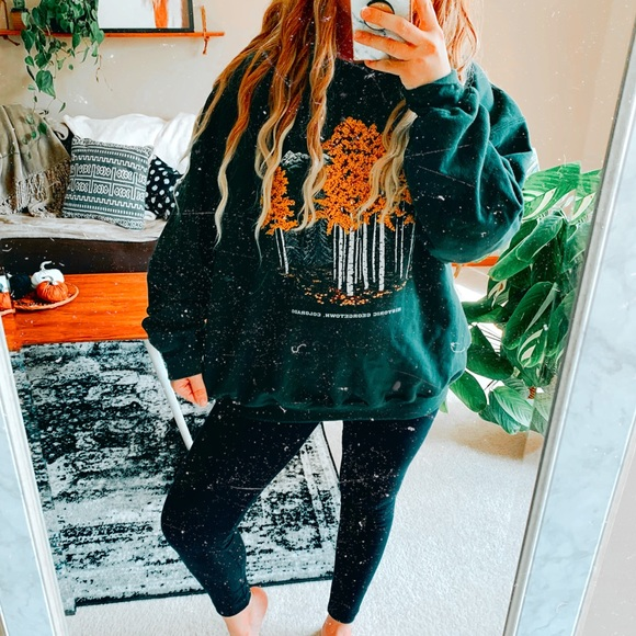 Tops - Colorado autumn oversized boho sweatshirt